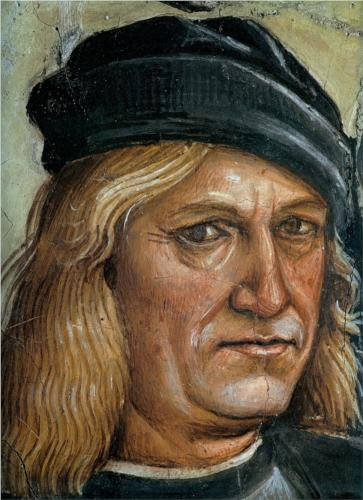 "Luca Signorelli, Self-portrait, detail from ""The Preaching and Acts of the Antichrist,"" 1500"